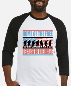 HOME OF THE FREE BECAUSE OF THE BRAVE Baseball Jer