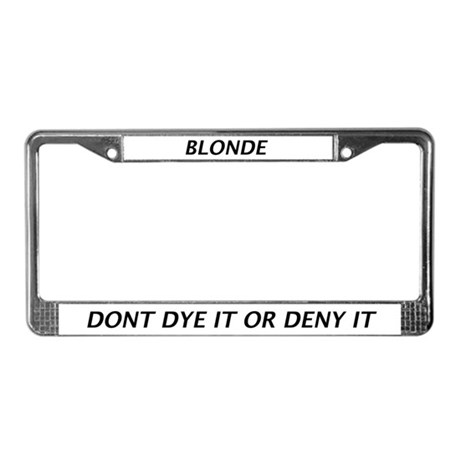 Blonde License Plate Frame