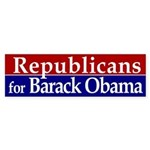 Republicans for Barack Obama sticker