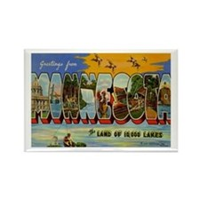 Greetings from Minnesota Rectangle Magnet (10 pack