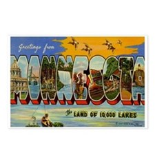 Greetings from Minnesota Postcards (Package of 8)