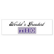 World's Greatest Tio Bumper Bumper Sticker
