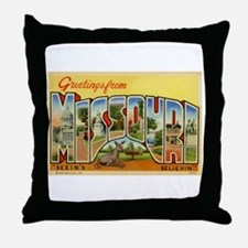 Greetings from Missouri Throw Pillow