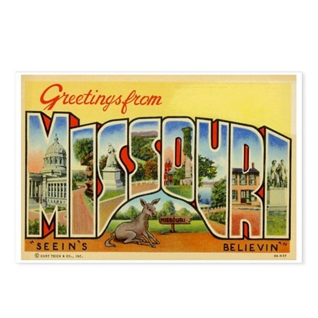 Greetings from Missouri Postcards (Package of 8)