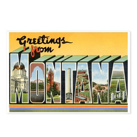 Greetings from Montana Postcards (Package of 8)
