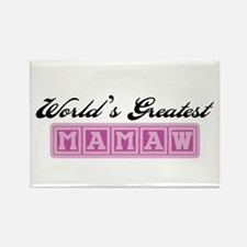 World's Greatest Mamaw Rectangle Magnet