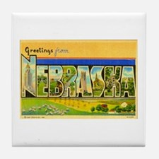 Greetings from Nebraska Tile Coaster