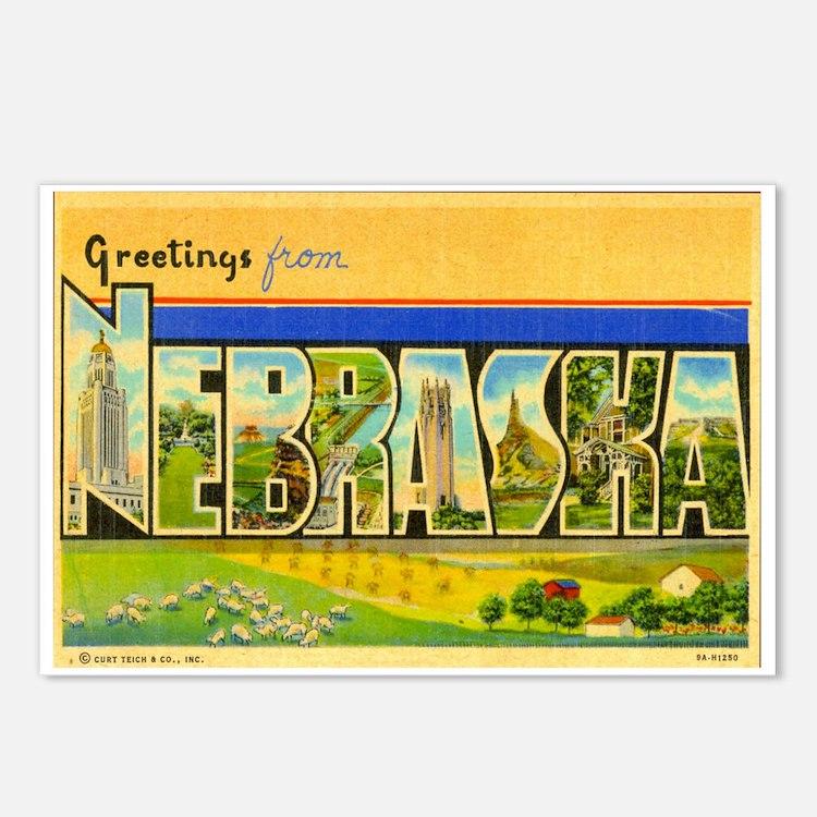 Greetings from Nebraska Postcards (Package of 8)