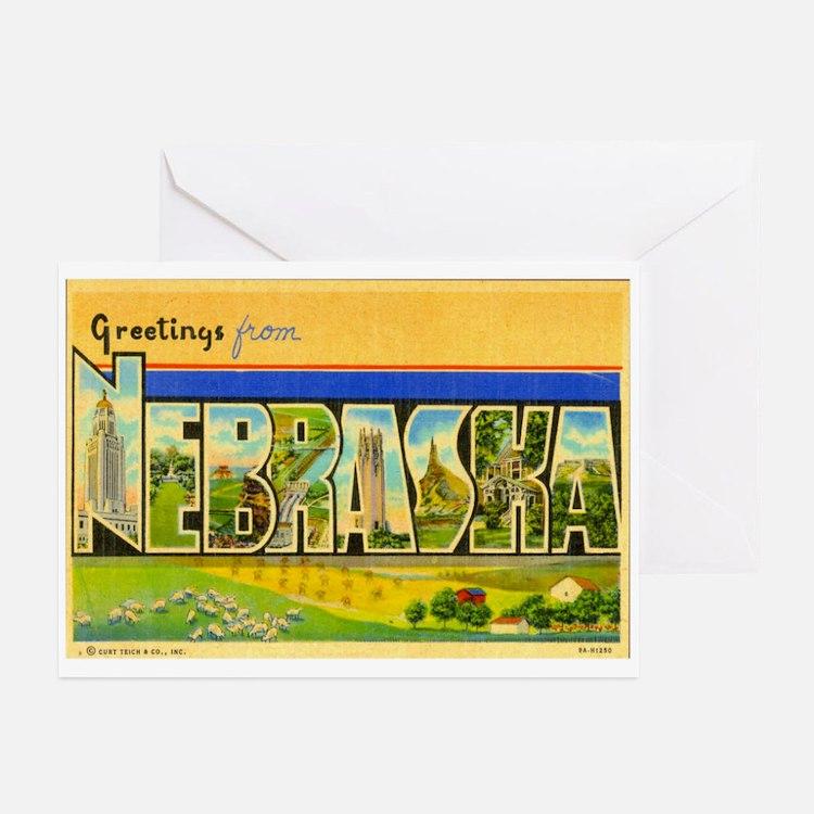 Greetings from Nebraska Greeting Cards (Pk of 20)