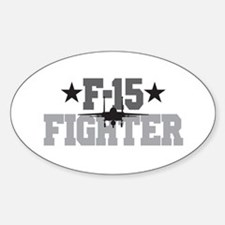 F-15 Fighter Oval Decal