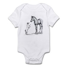 Jack russle terrier, and foal Infant Bodysuit