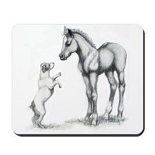 Jack russle terrier, and foal Mousepad