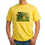 Lilies (#1) - Corgi (Bl.M) Yellow T-Shirt