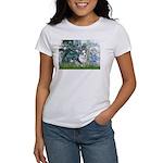 Lilies (#1) - Corgi (Bl.M) Women's T-Shirt