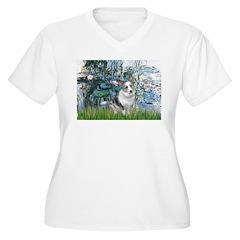 Lilies (#1) - Corgi (Bl.M) T-Shirt