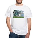 Lilies (#1) - Corgi (Bl.M) White T-Shirt