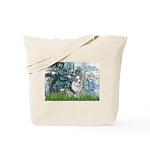 Lilies (#1) - Corgi (Bl.M) Tote Bag