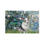 Lilies (#1) - Corgi (Bl.M) Rectangle Magnet (10 pa