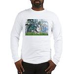 Lilies (#1) - Corgi (Bl.M) Long Sleeve T-Shirt