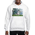 Lilies (#1) - Corgi (Bl.M) Hooded Sweatshirt