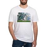 Lilies (#1) - Corgi (Bl.M) Fitted T-Shirt