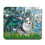 Lilies (#1) - Corgi (Bl.M) Mousepad
