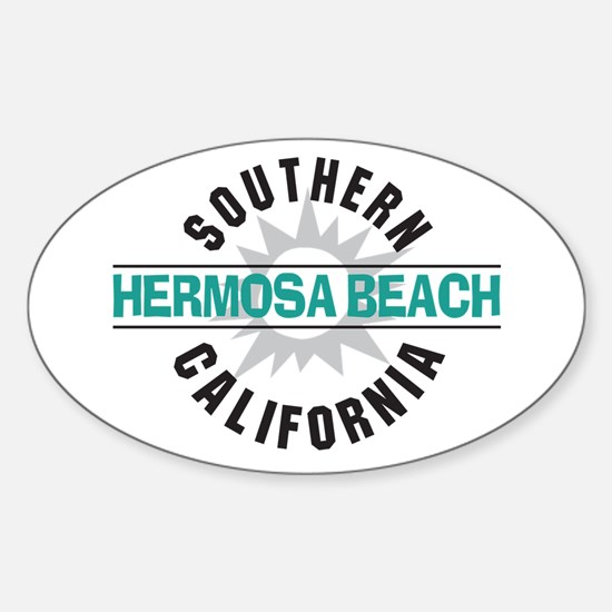 Hermosa Beach California Oval Decal