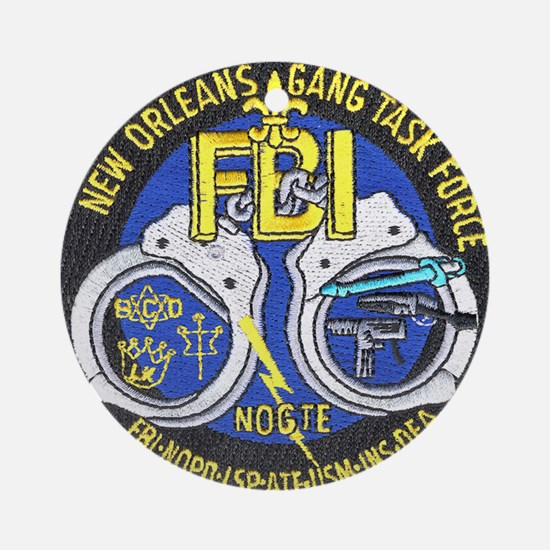 New Orleans Gang Task Force Ornament (Round)