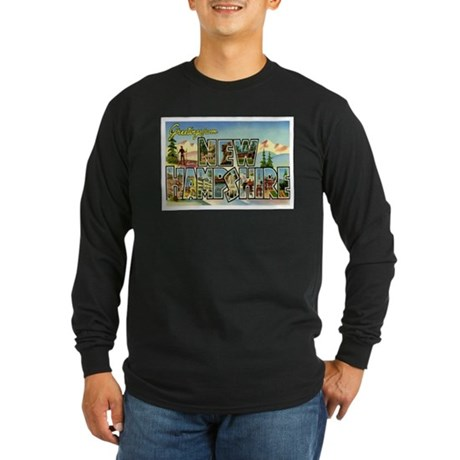 Greetings from New Hampshire Long Sleeve Dark T-Sh