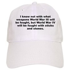 Einstein quotation Baseball Cap