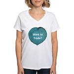 Want to trade hostas? Women's V-Neck T-Shirt