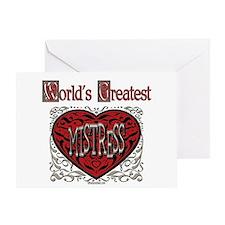 World's Best Mistress Greeting Card