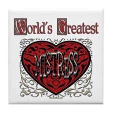 World's Best Mistress Tile Coaster