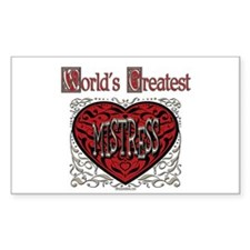 World's Best Mistress Rectangle Decal
