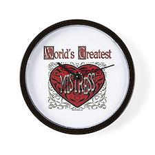 World's Best Mistress Wall Clock