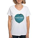 Hosta Trader Women's V-Neck T-Shirt