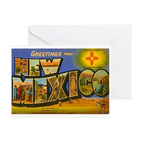 Greetings from New Mexico Greeting Cards (Pk of 10