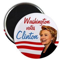 Washington Votes Clinton Magnet