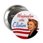 Washington Votes Clinton Ten Button Pack