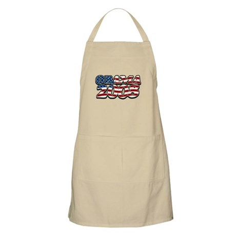 Retro Flag Obama 2008 BBQ Apron