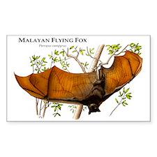 Malayan Flying Fox Rectangle Decal
