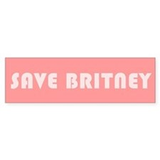 SAVE BRITNEY Bumper Bumper Sticker