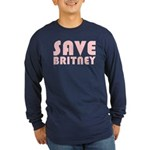 SAVE BRITNEY Long Sleeve Dark T-Shirt