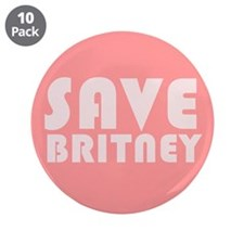 """SAVE BRITNEY 3.5"""" Button (10 pack)"""