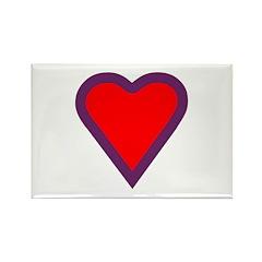 Heart Rectangle Magnet (10 pack)