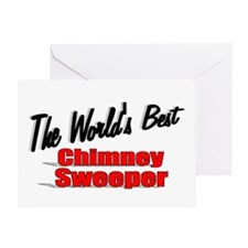 """The World's Best Chimney Sweeper"" Greeting Card"