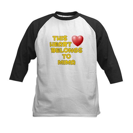 This Heart: Mima (D) Kids Baseball Jersey