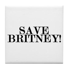 Save Britney! Tile Coaster