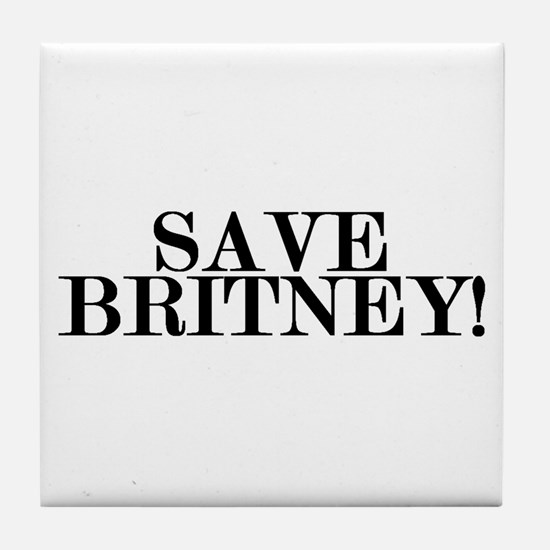 Save Britney! Tile Coaster