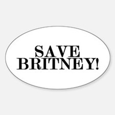 Save Britney! Oval Decal
